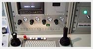 Pulpit sterowniczy i wnętrze przedziału operatora robota ProKasro