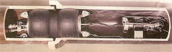 Packer umieszczony w miejscu nieszczelnego złącza